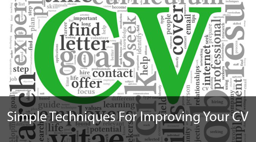 Simple Techniques for improving your CV