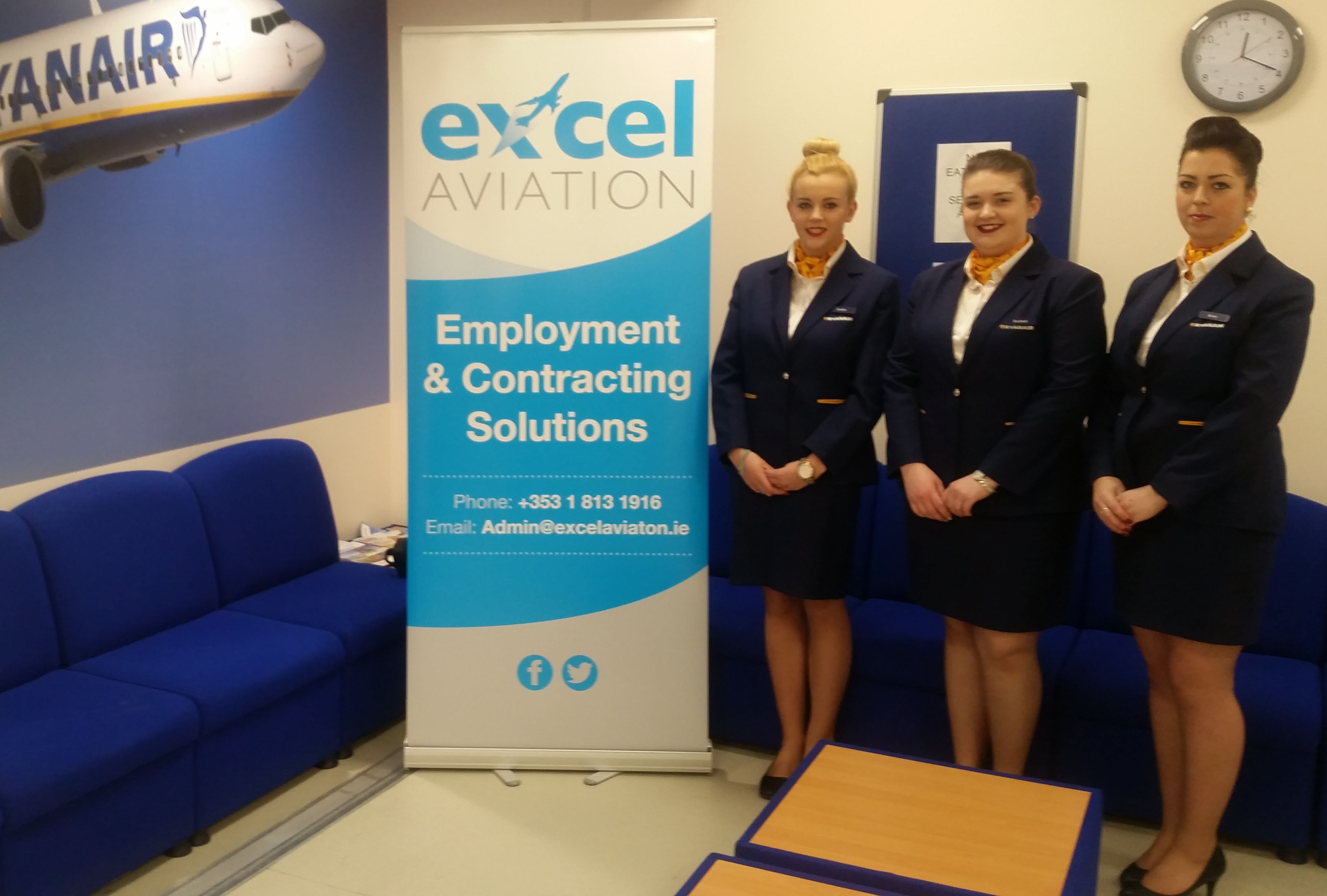 Excel Aviations Ryanair Check In Agents Girls Graduating in April 2016