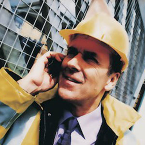 Business Man In A Hard Hat